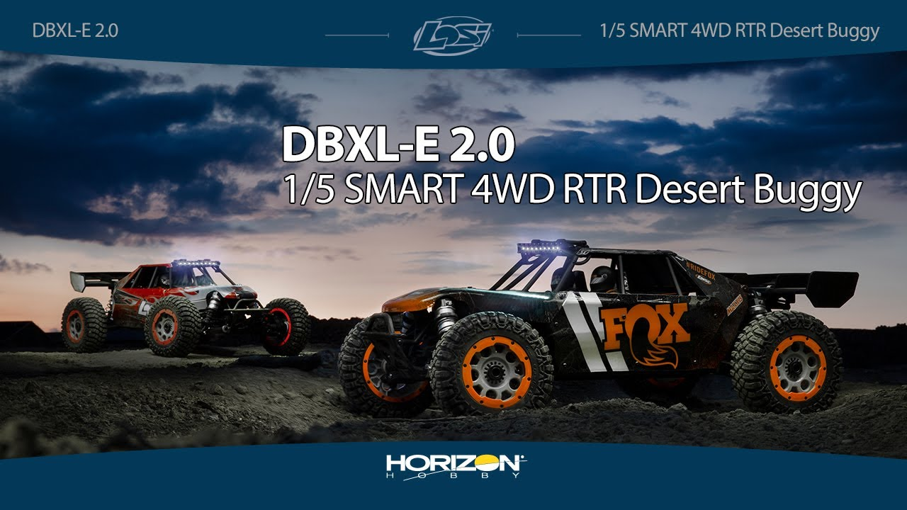 Losi Desert Buggy DB XL-E 2.0 8S 1//5 RTR 4WD Electric Buggy LOS05020T2