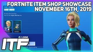 Fortnite Item Shop *NEW* SURF RIDER SKIN SET + MORE! [November 16th, 2019] (Fortnite Battle Royale)