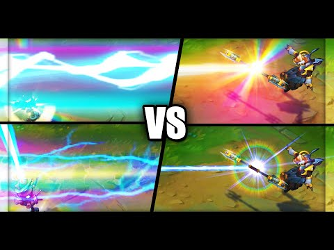 Lux VFX Update NEW vs OLD All Skins Comparison (League of Legends)
