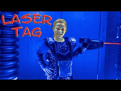 Laser Tag and Arcade Family Fun with the Assistant on a Ropes Course