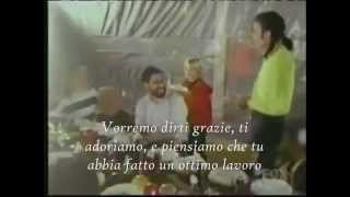 Michael Jackson - Funny moments with the cakes SUB ITA