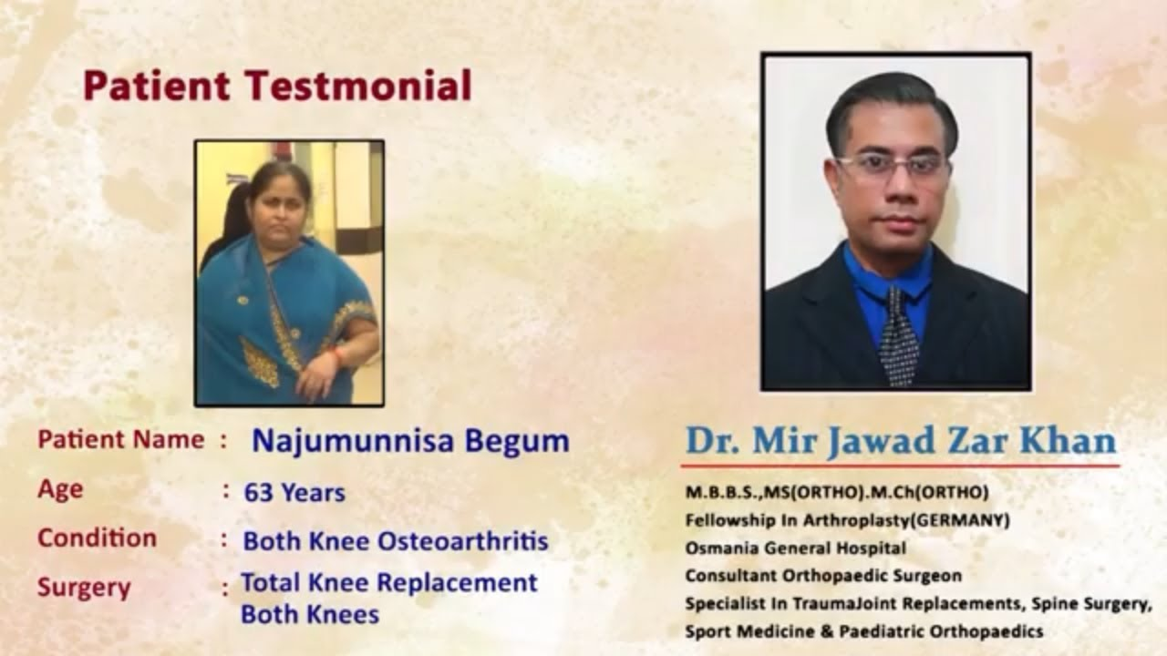 Bilateral Knee Replacement Surgery by Dr  Mir Jawad Zar Khan | Best  Orthopedic Doctor in Hyderabad