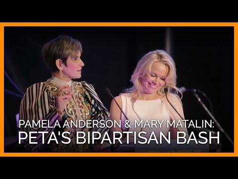 Pamela Anderson and Mary Matalin Open PETA's Bipartisan Bash