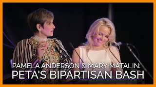 Pamela Anderson and Mary Matalin Open PETA