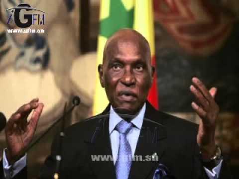 Audio Discours de Me Abdoulaye Wade à la permanence du PDS (Wolof sur IGFM)