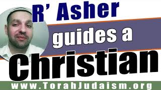 R' Asher guides a Christian