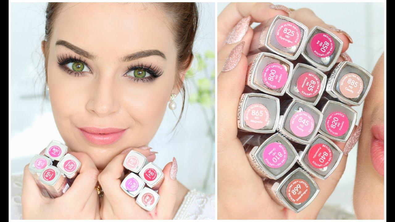 first impression amp swatches revlon ultra hd lipstick