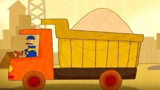 CarToons für Kinder, die mit einem LKW