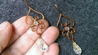 How to make wire earrings inspired by Indian jewelry 133