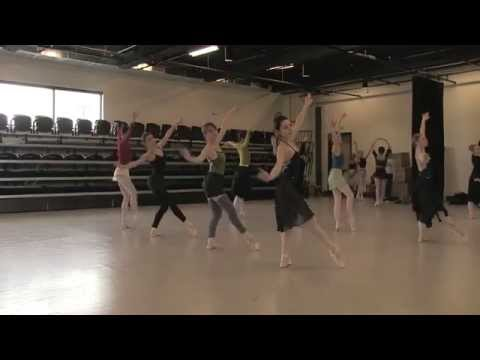 """Artists of Colorado Ballet rehearse the Snow scene from """"The Nutcracker"""""""