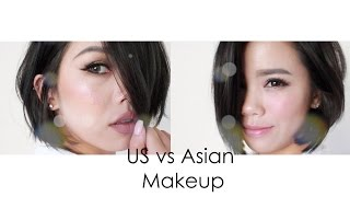Tutorial | US vs Asian Style Makeup