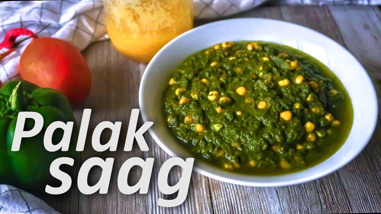 Easy Healthy Palak Corn Saag पालक साग  Recipe | Spinach Fenugreek Curry | Nutrious Green Curry