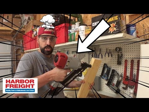 Harbor Freight Tool Central Pneumatic 34 Degree Finish Nail Gun Review!