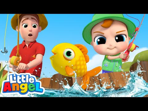 12345 Once I Caught a Fish Alive | Playing with the Family & More Nursery Rhymes by Little Angel