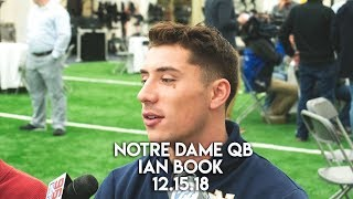 Notre Dame QB Ian Book   12.15.18