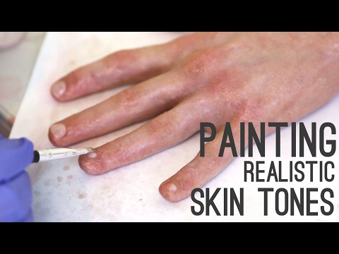 Silicone Severed Hand Tutorial, Pt. 2, Painting | Freakmo