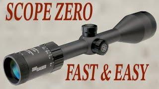 Rifle Scopes Explained Zeroing your Scope