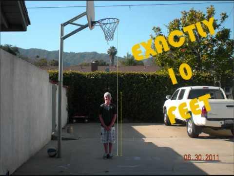 4'10'' kid dunks on 10 foot rim!!!-kabwammaster style ...