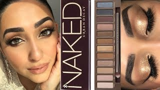 NAKED PALETTE/ Glam gold eyes / Saying bye to this palette! @nazanasghar