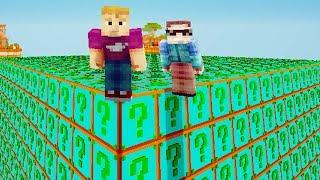 DUITSE LUCKY BLOCK MEGA SKYBLOCK 1 VS 1 CHALLENGE - Minecraft Mod Challenge