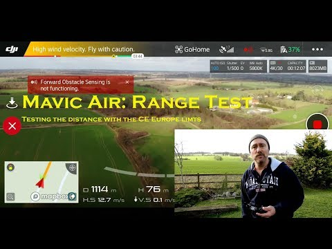 Mavic Air: Long Range Flight Test for European countries with the CE limits