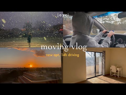 /eng/ ? moving vlog: 14-hour driving, new apartment, snowy day | du học sinh mỹ | jayci