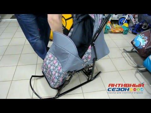 Санки Kristy Comfort Plus ВК (Зимняя сказка 3В+ВК) 2015 г. - Магазин Активный Сезон