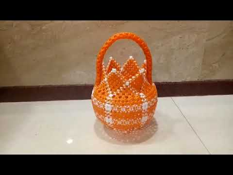 M.k.Plastic Wire Works ( Pooja Basket (Shivankan & Basic knot) - Model -12)