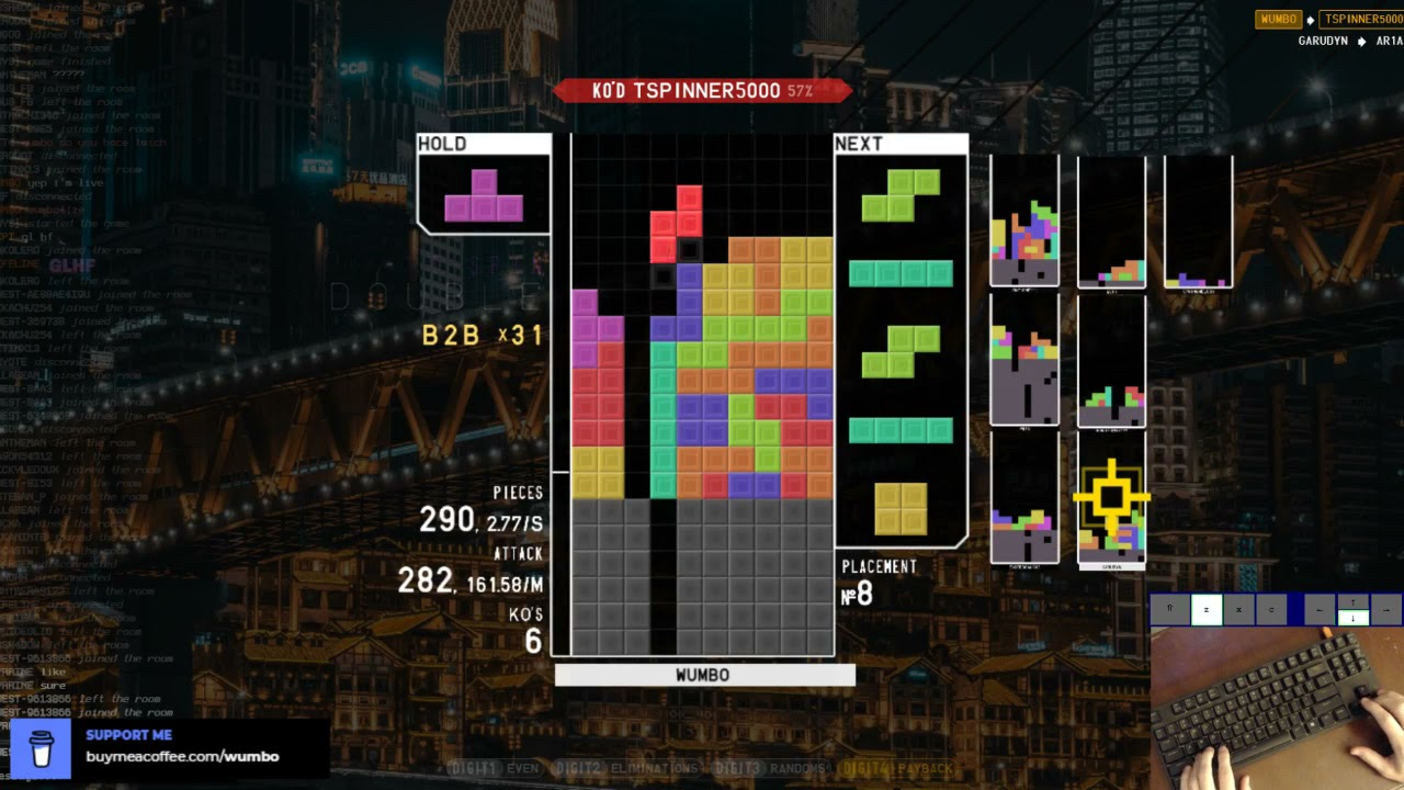 Download TETR.IO - Dominating Quick Play - 185 APM, 50 B2B Chain