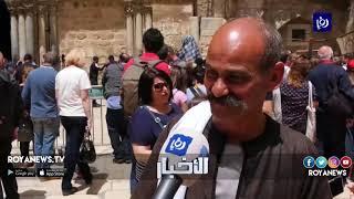المسيحيون يؤدون الصلوات في يوم الجمعة العظيمة بمدينة القدس المحتلة - (26-4-2016)