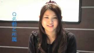「東京俳優市場2010春」第2話から西崎あやさんのインタビューです。