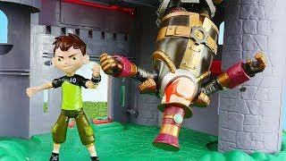 Видео про игрушки из мультиков. Бен 10 попал в лабиринт Стим Смита