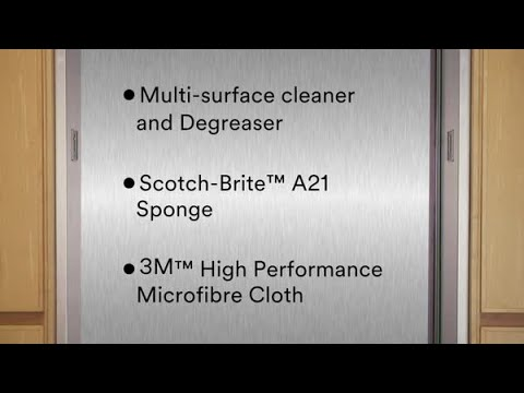 3M™ Stainless Steel Cleaner and Protector - How To