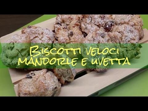 Biscotti Veloci Mandorle E Uvetta Di Anna Moroni Ricetta Youtube