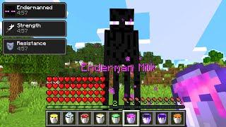 Paso Minecraft pero Puedo Tomar Leche de Cualquier Mob