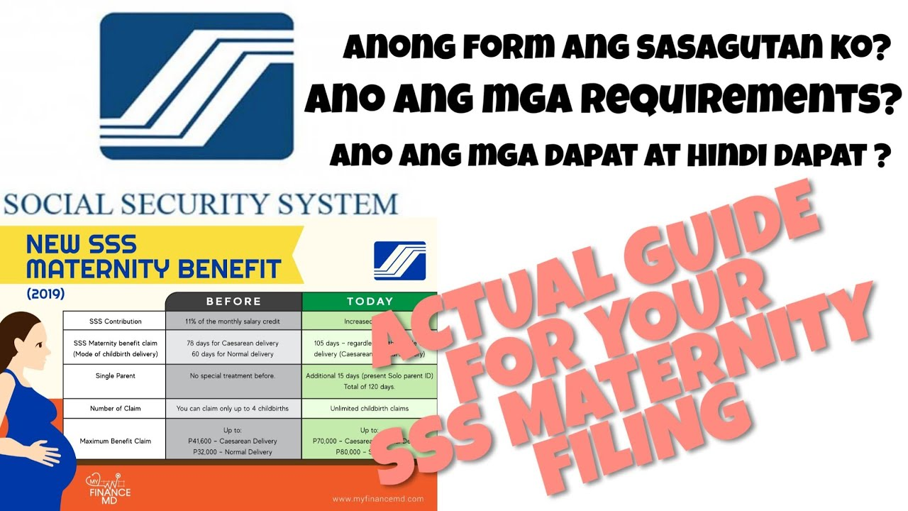 Sss Maternity Benefits Mat1 And Mat2 Requirements Youtube