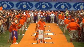 Clemson Tigers Run Down the Hill in HD
