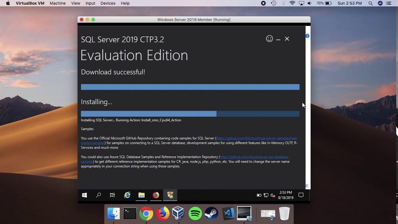 Installing MS SQL Server 2019 Evaluation In Windows Server 2019