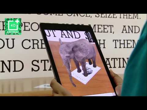 Animal 4D augmented reality cards