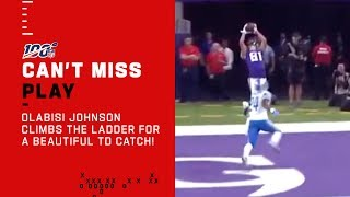 Bisi Johnson Goes UP for a Beautiful TD Catch