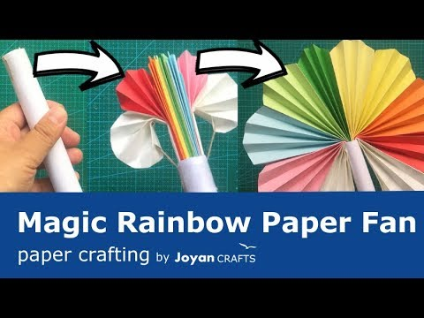 Build Magic rainbow paper fan from paper