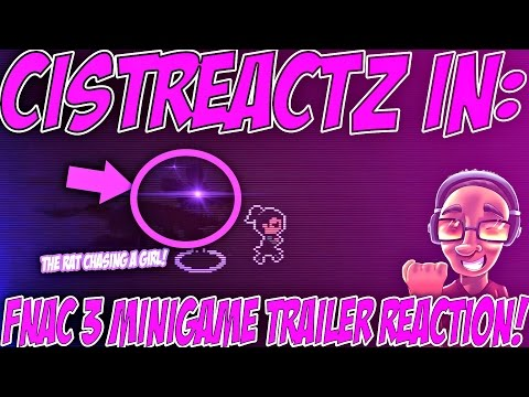 Five Nights At Candy's 3 Minigame Teaser Trailer REACTION |  SHADOW R.A.T CHASING A LITTLE GIRL!