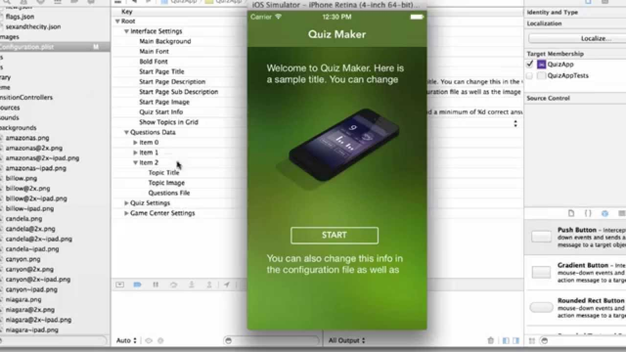 Lovely Quiz Maker Template Demo   Fully Functioning IPhone Quiz App Template    YouTube  Free Test Maker Printable