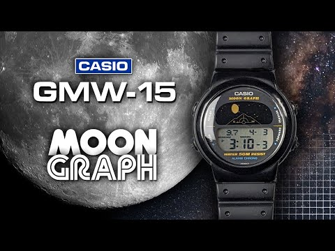 Casio Moon Graph GMW-15 | Animated Moon Phase Watch With Sunrise, Sunset, And Moon Angle Data