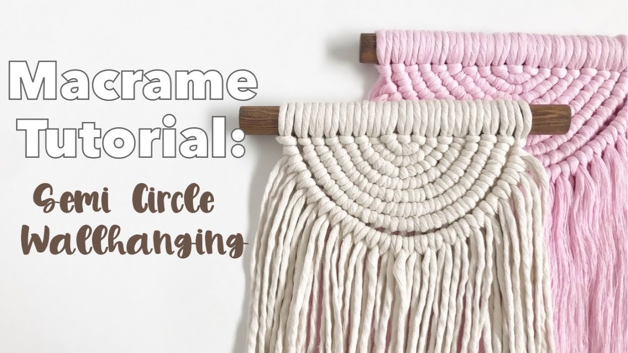 Easy Macrame Semi Circle Wallhanging Tutorial | DIY Boho Decor | Macrame For Beginners