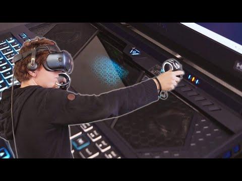 Gaming-Laptop mit Schiebe-Tastatur: