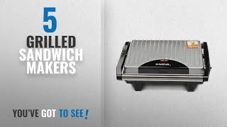 Top 10 Grilled Sandwich Makers [2018]: Nova NSG 2449 1000-Watt 2-Slice Sandwich Maker (Black/Grey)