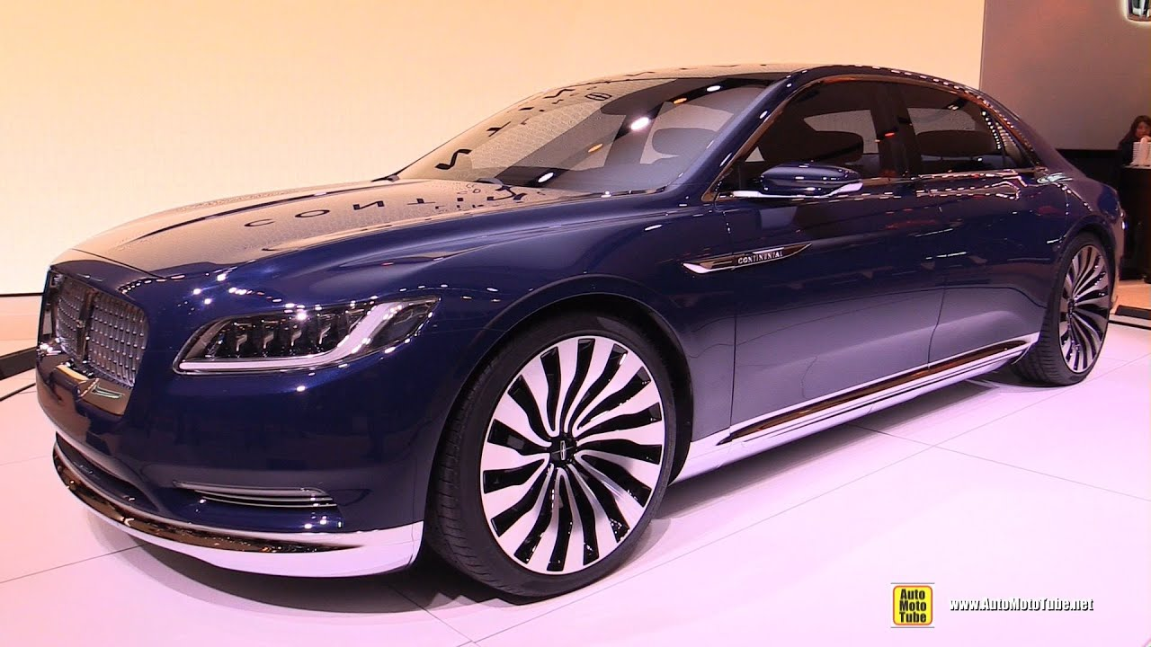 Lincoln Continental Concept Exterior And Interior Walkaround 2017 New York Auto Show You