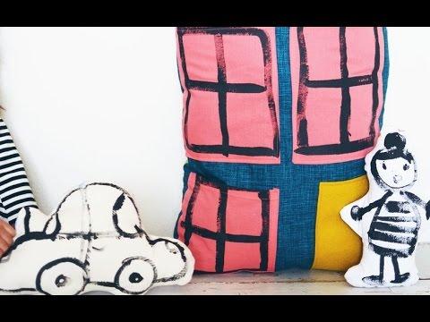 diy kissen n hen kinder kissen youtube. Black Bedroom Furniture Sets. Home Design Ideas