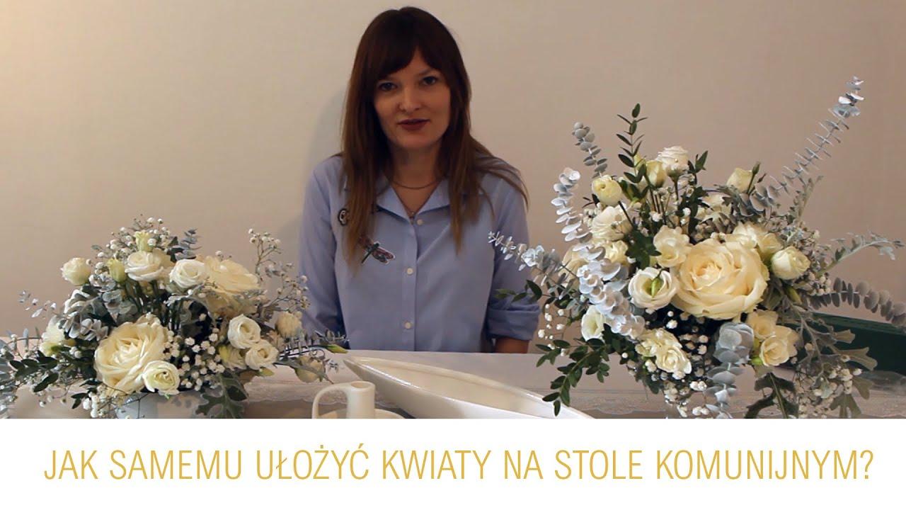 Jak Samemu Ulozyc Kompozycje Kwiatowe Na Stol Komunijny Zlotyaniol Pl Youtube